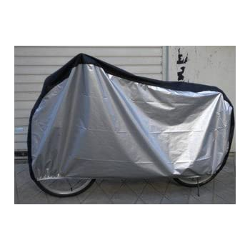 KLOUD  Silver & Black 190T nylon waterproof bike / bicycle cover (size: LL