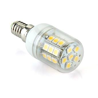 Bombilla E14 30 LEDs 5050 SMD Foco Spotlight Blanco caliente AC 220V-240V 300LM: Amazon.es: Hogar