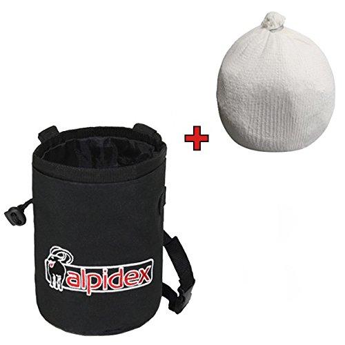ALPIDEX Pack Ahorro: Bolsa de Magnesia Color Black Rock + Bola de Magnesia 35 g: Amazon.es: Deportes y aire libre