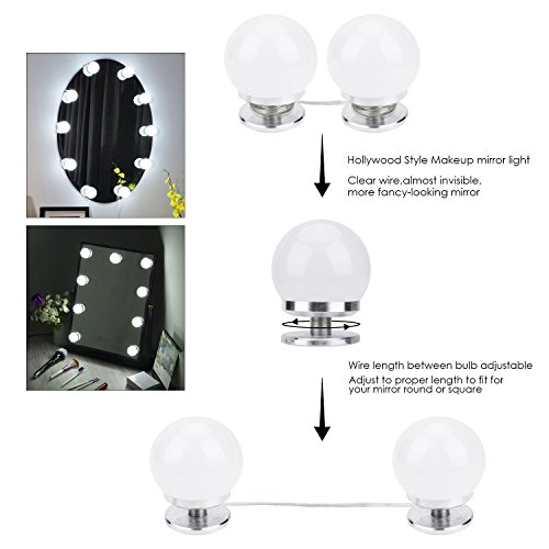 Vanity Mirror Lights Kit Bedee Hollywood Style Led Mirror Lights