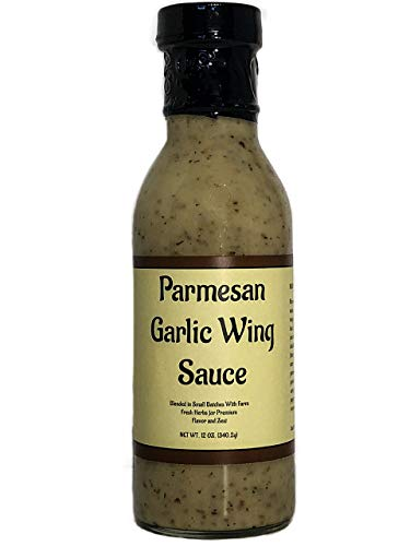 Chicken Garlic Sauce - Premium Parmesan Garlic Wing Sauce - Crafted in Small Batches with Farm Fresh Herbs for Premium Flavor and Zest