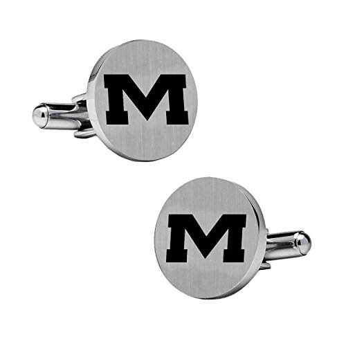 Miss Rebels Ole Cufflinks - Mississippi Ole Miss Rebels Stainless Steel Round Cufflinks