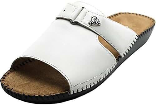 Auditions Sparkle Women W Open Toe Leather Slides Sandal