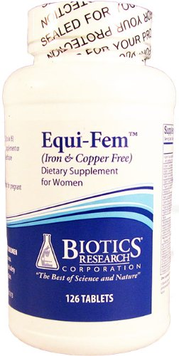 Biotics Research Equi-Fem Iron & Copper Free 126 Tablets