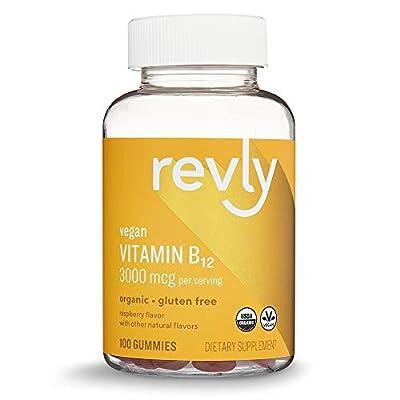 Amazon Brand – Revly Vitamin B12, 100 Gummies, 50-Day Supply, Vegan, Organic