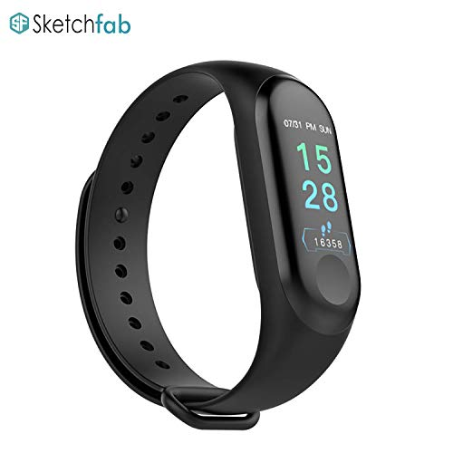 Sketchfab Smart Fitness Band Activity Tracker with Heart Rate Sensor for Androids and iOS Phone/Tablet Price & Reviews