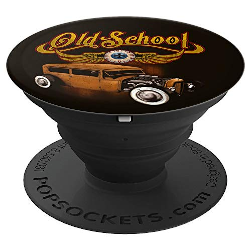 Custom Drag Socket (Vintage Old school Rat rod Muscle car - PopSockets Grip and Stand for Phones and Tablets)