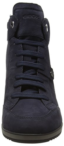 Dk A Navyc4021 Blau Femme Geox Hautes Sneakers Illusion 6xnZY