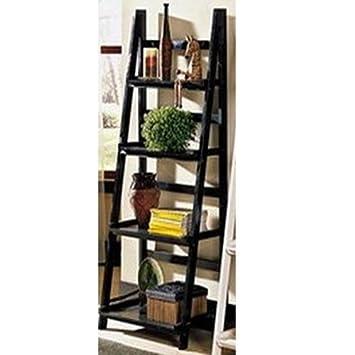 LADDER - Leaning Storage / Display Shelves - Black