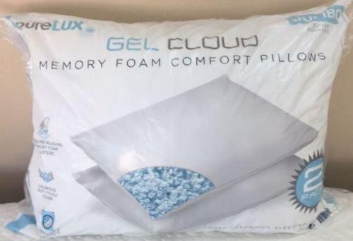 Amazoncom preLUX Gel Cloud Memory Foam Comfort Pillows 2 Pack
