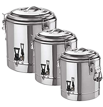 GVK ECO Tipos de depósito térmica de Acero Inoxidable 18/10, 12 L, 22 L y 35 L, Acero Inoxidable, TGB_12