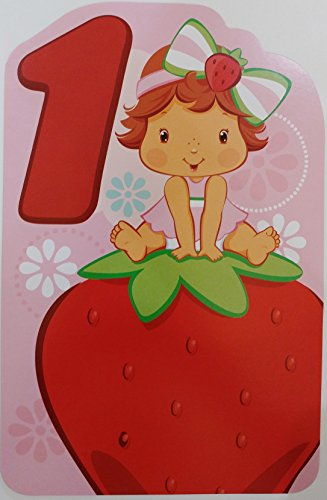 (Strawberry Shortcake Baby Happy Birthday One Year Old Greeting Card - First 1st