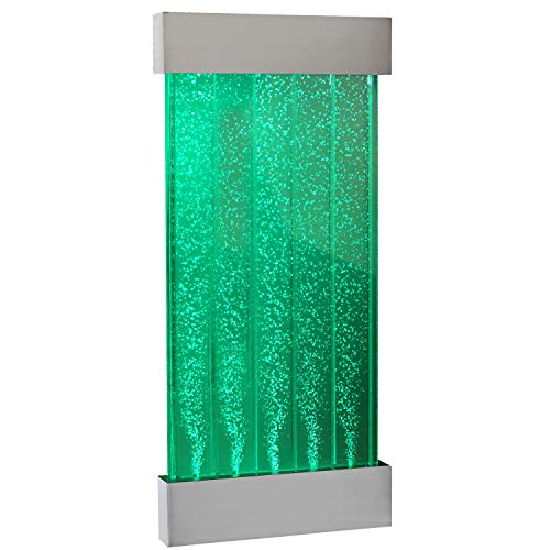 Playlearn Sensory LED Bubble Wall – 4 Ft – 48 Inch Tank – Indoor Wall Mounted Water Feature – APP Controlled – Large Water Lamp with 8 Changing Light Colors – Stimulating Home and Office D cor