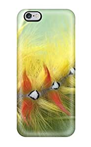 High-quality Durable Protection Case For Iphone 6 Plus(last Rock Punker Red Yellow Fluffy Caterpillar On Leaf Animal Other)