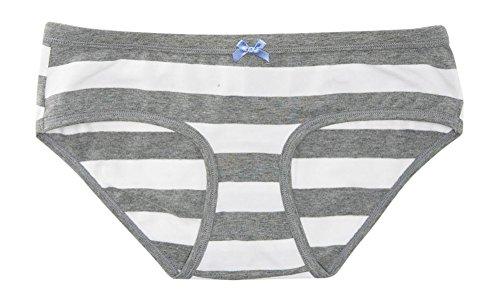 Aeropostale Women's Lld Striped Boybrief Underwear S Medium Heather Grey