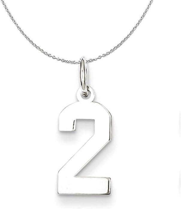 Sterling Silver Medium Polished Number 29