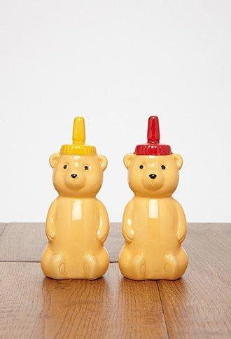 Honey Bear Salt   Pepper Shakers
