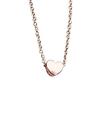 Image Unavailable. Image not available for. Color  Rose Gold Heart necklace  . 6840dd259