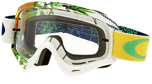 Oakley XS O-Frame MX Moto Monster Goggles (White Frame/Clear - Oakley Moto