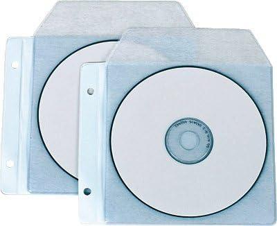 Iberplas 479P - Pack de 10 fundas para CD y DVD en PVC, capacidad de para 4 CDs cada funda, transparente: Amazon.es: Oficina y papelería