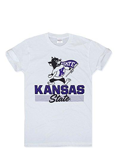 Charlie Hustle Unisex Collegiate Kansas State Heritage Script S White