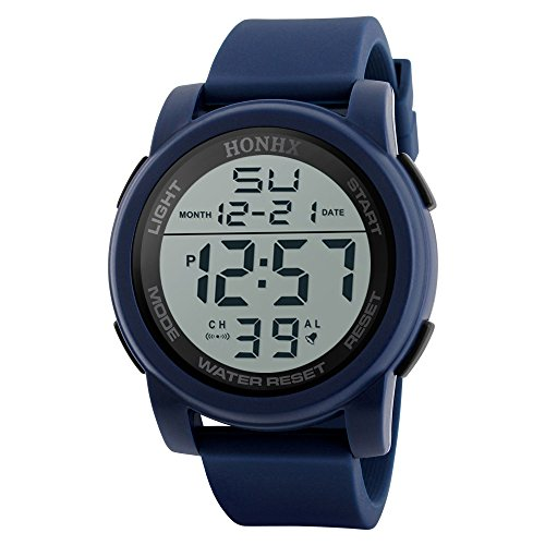 Fashion Men's LED Watches Waterproof Digital Quartz Military Luxury Date Watches,Outsta Sport Watch for Men Boys Gift Present Spring Deals!Hot (A,Blue)