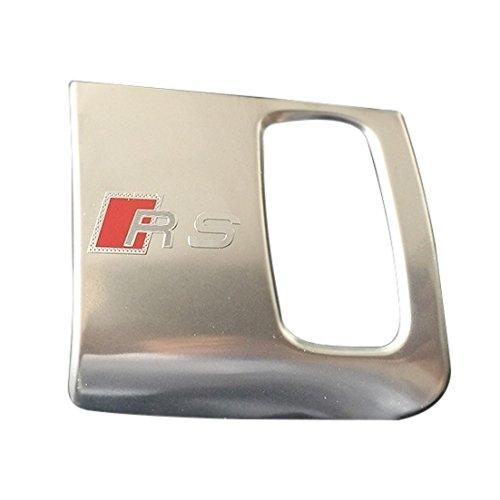 Cikuso Per Audi A4 A5 Interno in Acciaio Inox Auto Buco della Serratura Decorativo Rivestimento Trim Sline RS Logo 3D Adesivo Auto Accessori Colore: Argento