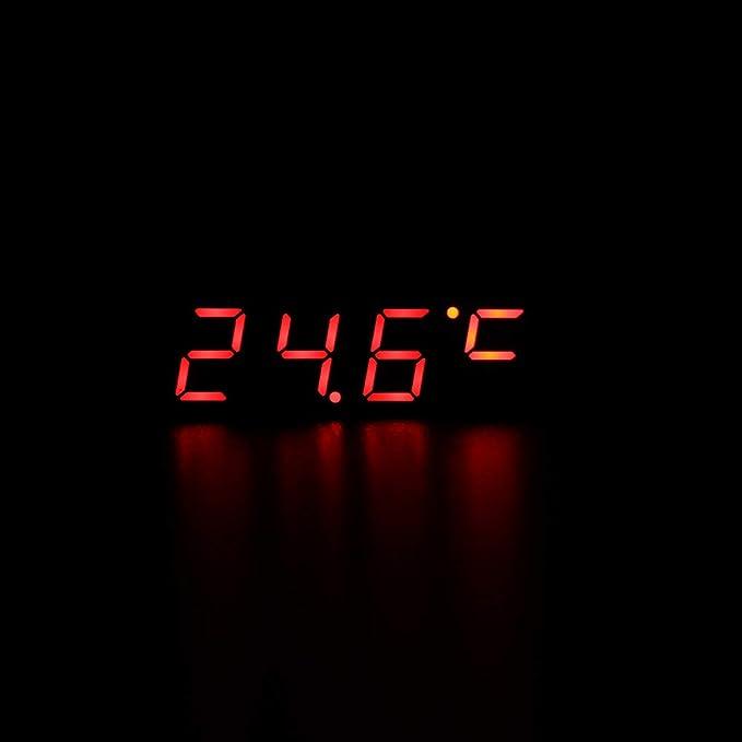 en option Vert Winbang Horloge de voiture affichage LED Horloge /électrique num/érique Minuterie Temp/érature Horloge num/érique Vert//Bleu//Rouge Lumi/ère