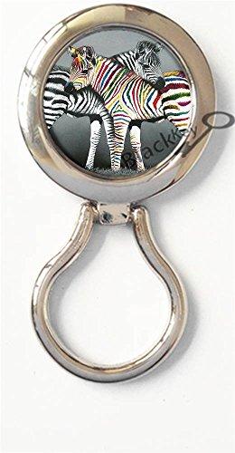 BlackKey Animal Zebra Magnetic Metal Eyeglass Badge Holder, Eye Glass Holding Brooch - Sunglasses 1860