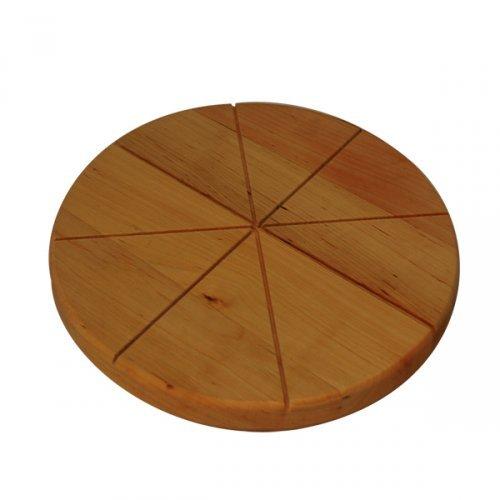 Nascha Majsternja Servir Tabla para Cortar Cortador de Pizza Pizza Pizza Plato Eco Madera 27/cm 8906