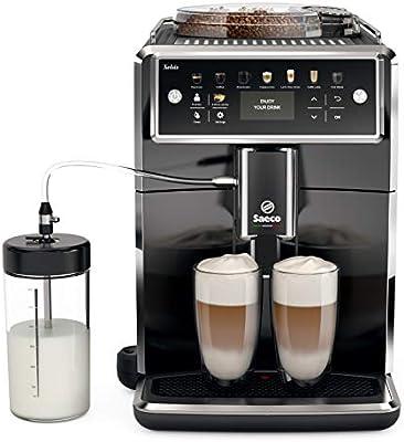 Philips SM7580/00 Cafetera Espresso Súper Automática, Acero Inoxidable, Negro
