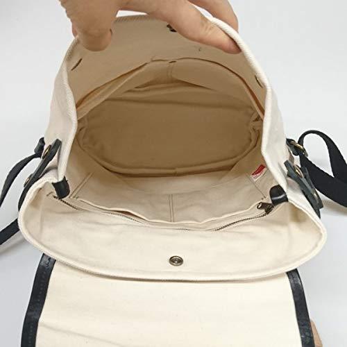 日本製 本革 帆布 リュック 白 ホワイト レディース メンズ 男女兼用 かばん 通学 通勤 マザーズバッグ 大容量 リュックサック バックパック デイパック   B07H23H3GH