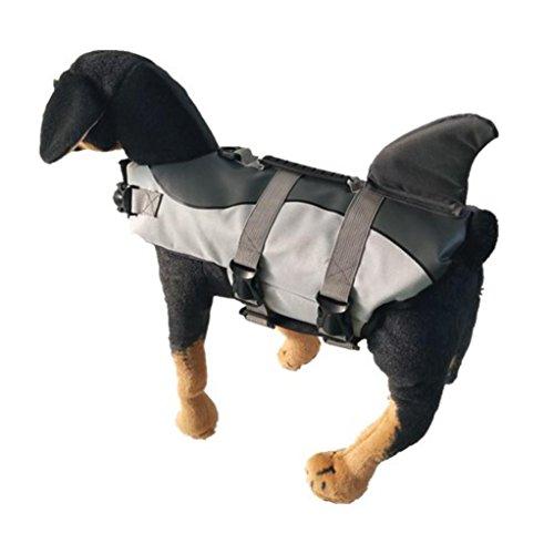 Morecome Pet Life Jacket,Pet Outward Adjustable Dog Life Jacket with Rescue Handle (Back Length:35cm, A) by Morecome pet vest (Image #3)