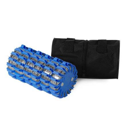 Powerflare LED Warnleuchte 6er Set blau inkl. Tasche