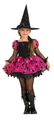 Girl's Witch Shoes (Child's Moonlight Magic Costume with Fiber Optic Light Twinkle Skirt - Small)