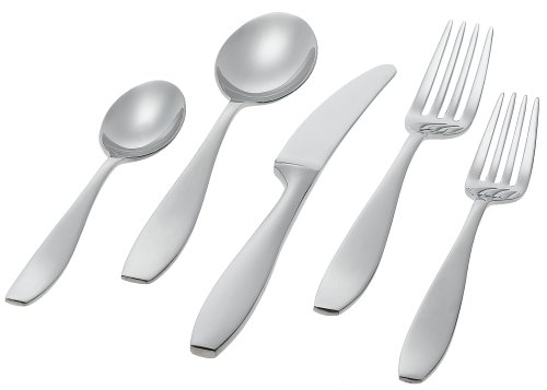 Ginkgo International Skandia 20-Piece Stainless Steel Flatware Place Setting, Service for 4