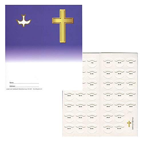 Quarter Coin Folders for Christian Organizations Fundraising Holds $10.00 - 50 Folders Blank (Quarter Offering Folders)