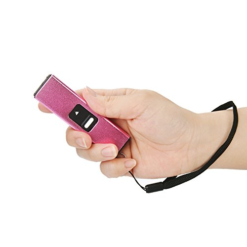 (Reax 10 Million Volt Micro USB Keychain Stun Gun,Rechargeable with LED Flashlight (Pink))