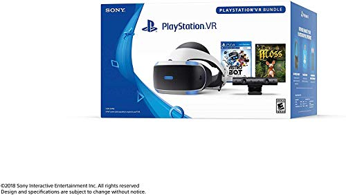 Playstation VR - Astro BOT Rescue Mission + Moss Super Bundle: Playstation VR Headset, Playstation Camera, Demo Disc 2.0, Astro BOT Rescue Mission + Moss Game 2