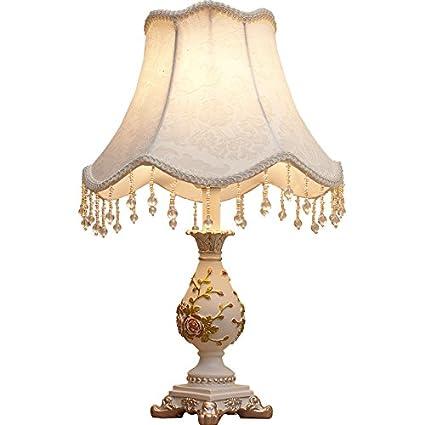 MLPBOOv Lámpara de mesa clásica europea dormitorio cabecera ...