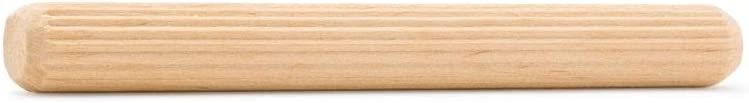 Wood Dowel Pins 3 inch x 1//4 inch Pack of 100 Fluted Dowel Pins for Furniture and Wood Crafts by Woodpeckers