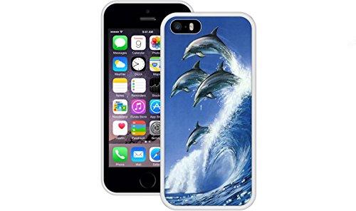 Delphine | Handgefertigt | iPhone 5 5s SE | Weiß TPU Hülle