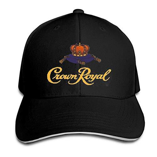 Crown Royal Hip Hop Baseball Cap Golf Trucker Baseball Cap Adjustable Peaked Sandwich Hat Black (Crown Royal Cap)