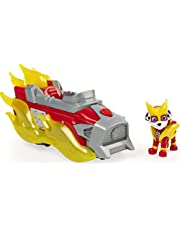 PAW PATROL 6056841 Mighty Pups Charged Up Marshall's Deluxe Vehicle with Lights and Sounds, Multicoloured
