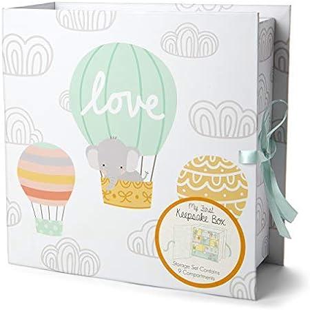 Tri-Coastal Design - Caja de Primeros Recuerdos de Bebé Con 9 Cajas Para Guardar Los Recuerdos y Tesoros Especiales
