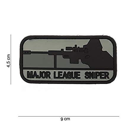 Tactical Attack Major League Sniper PVC Patch Softair Logo Klett inkl gegenseite zum aufn/ähen Paintball Airsoft Abzeichen Fun Outdoor Freizeit