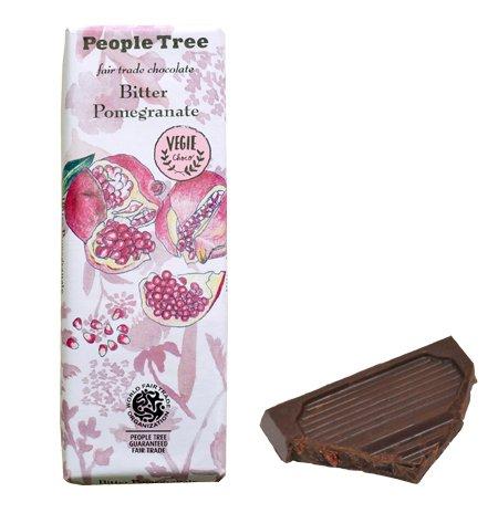 【People Tree】フェアトレード・板チョコレート ビター・ザクロ