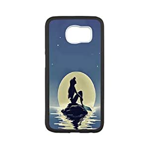Samsung Galaxy S6 Case the Little Mermaid.Ariel, Samsung Galaxy S6 Case Ariel, [White]