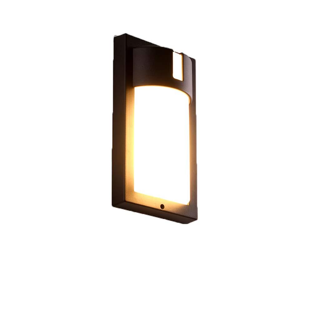 Wasserdichte Moderne Minimalistische Innenbeleuchtung Des Treppenhaushotelgang-Balkonlichts Der Wandleuchte Im Freien,Größes Rechteck - Schwarz -14W Warmes Licht