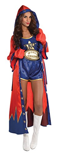 Amscan Knockout Sexy Boxer Halloween Costume for Women, Medium, with Included Accessories